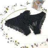 хлопковые трусы 3 шт в упаковке белый бежевый черный Violetta