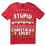 Прикольная рождественская футболка Next, 52 размер