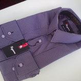 Супер-Цена Рубашка длинный рукавчик, размер M, приталенная, Sigmen, отличного качества