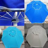 Белый пляжный зонт с клапаном. Ветроустойчивый.