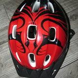 Велосипедный шлем обьем 54-56см вес 260-270гр