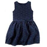 Платье для девочки Carters синее