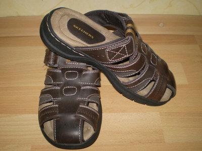 Мужские кожаные сандалии-шлепанцы SKECHERS STORCH RAMZI Америка. Оригинал.