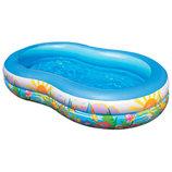 Детский надувной бассейн овальный Райское побережье