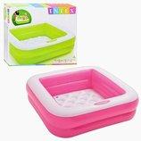 Детский квадратный надувной бассейн Intex