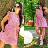 Платье на пуговках 42-44 размеры разные цвета