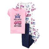 Набор из 2х хлопковых пижам для девочки Carters короткий рукав спасатели