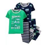 Набор из 2х хлопковых пижам для мальчика Carters короткий рукав транспорт