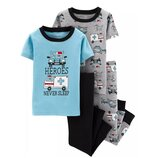 Набор из 2х хлопковых пижам для мальчика Carters короткий рукав спасатели