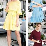Женское платье с оборками Лусия