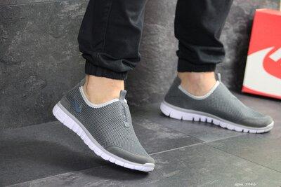 Кроссовки мужские летние Nike Free Run 3.0 gray