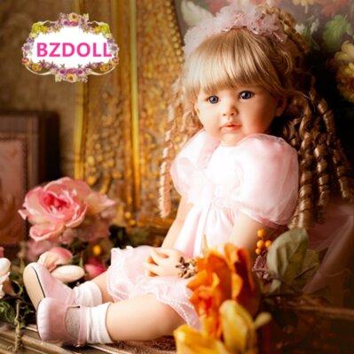 Кукла реборн. Reborn 60 см. Модная кукла. Винил.