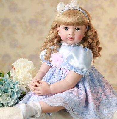 Реалистичная кукла Reborn. Винил. Ручной работы. 60 см.