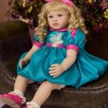 Реалистичная кукла Reborn. Винил. Ручной работы. Девочка Анабель. 60 См
