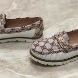 Мокасины туфли балетки для девочки