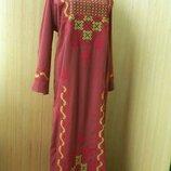 длинное платье рубаха вышиванка / абая / галабея