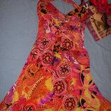 сукня на літо жіноча размер 44-46 / 10 женское летнее платье миди красочное легкое платье стрейч р