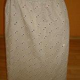 Шикарная льняная юбка, батал
