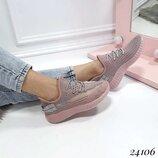 Женские кроссовки Adidas Yeezy текстиль