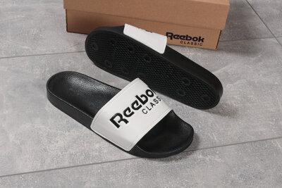 Шлепанцы мужские Reebok черные , белые