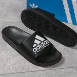 Шлепанцы мужские Adidas черные , белые