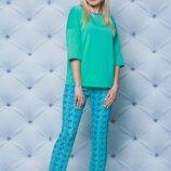 Пижама со штанами женская мята
