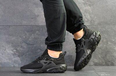 Nike Presto React кроссовки мужские демисезонные черные 7971