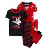 Набор из 2х хлопковых пижам для мальчика Carters короткий рукав карате