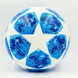 Мяч футзальный 4 Champion League 7271 PVC, бело-синий