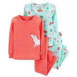 Набор из 2х хлопковых пижам для девочки Carters праздник