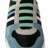 Новые Легкие Качественные Сабо женские кожаные спортивные мятно-черно-синие 4Rest USA дышащие