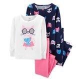 Набор из 2х хлопковых пижам для девочки Carters котик в кино