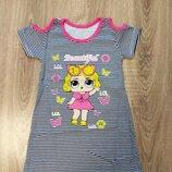 Супер летние платье с куклой Лол 3-7 лет