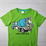 Салатовая футболка с принтом для мальчика C&A Palomino Германия Размер 110