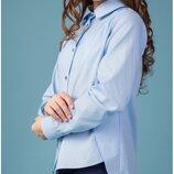 Блуза школьная для девочек Nora Размеры 140- 170 Тм BrilliAnt