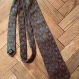 Стильный галстук,шелк,италия от hugo boss
