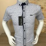 Рубашка Paul Smith 7 -15 лет с принтом, кнопка, нет глажке