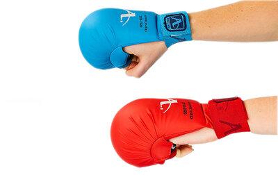 Перчатки для карате накладки карате Araza 7250 размер XS-L 2 цвета