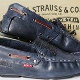 Levis мокасины Натуральная кожа синие туфли макасины Levi Strauss Islands левис Новинка 2019