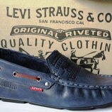 Levis мокасины Натуральная кожа туфли удобнейшие туфли Levi Strauss Islands 90-03 левис синие