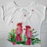 Детская белая футболка для девочки C&A Palomino Германия Размер 116 122 128