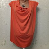 На шикарные формы Красивая яркая нарядная блуза кофточка, структурная ткань р.14 52-54-56