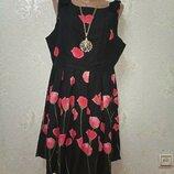 Красивое яркое стильное брендовое комфортное платье р.16 48-50-52