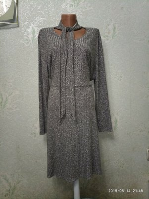 Красивое мягенькое меланжевое комфортное платье бренда PAPAYA р.XL 54-56-58 пог 62