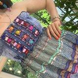 Сарафан камни цвета радуги