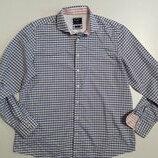 Фирменная легкая хлопковая рубашка XXL