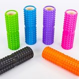 Роллер массажный для йоги и пилатеса Grid Spine Roller 6674 длина 45см 6 цветов
