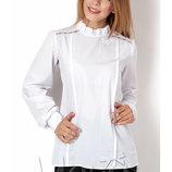 Новинка Блуза школьная с длинным рукавом на девочку 2804 Mevis Размеры 146- 164