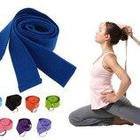 Ремень для йоги Yoga Belt 4943 размер 183x3,8см, 8 цветов