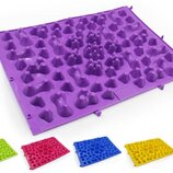 Коврик-Пазл ортопедический массажный резиновый 5082 размер 38x27см 6 цветов